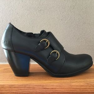 BOC Black Booties Shoes Boots Leather
